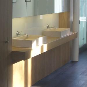 Handmade luxury style his and hers bathroom