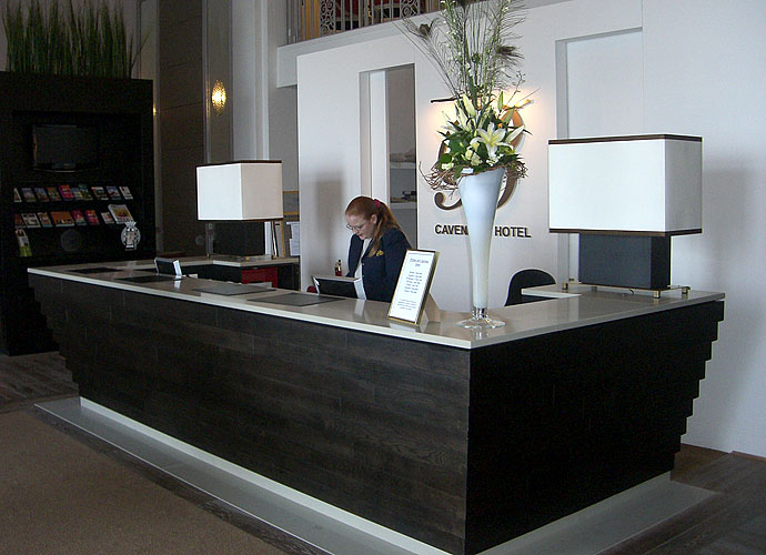 bespoke reception desk reception counters display cabinet sussex uk