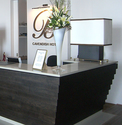 The Cavendish Hotel desk designer
