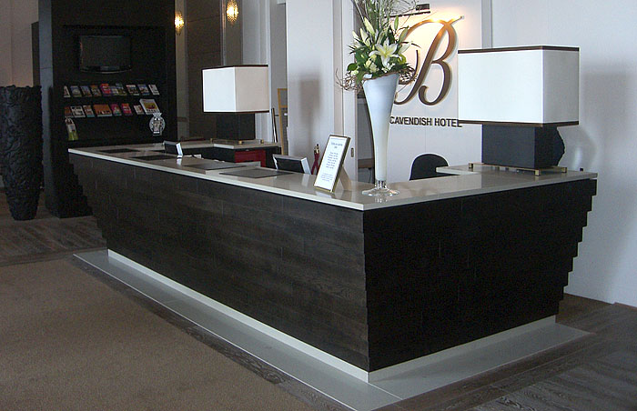 Handmade hotel desk designer