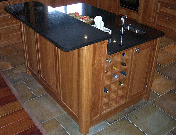 bespoke cherry wooden kitchen