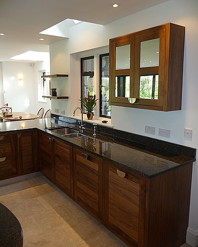 Open planned bespoke kitchen design