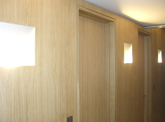 Oak bespoke doors