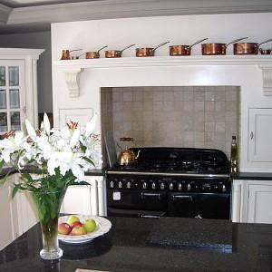 white bespoke kitchen country style