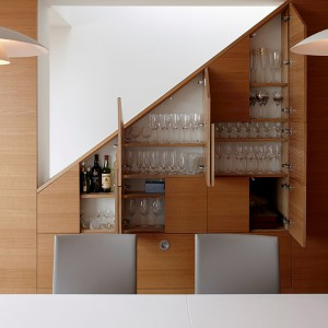 Bespoke built-in space saving cupboards