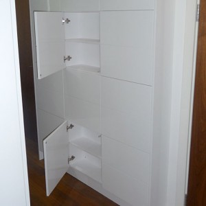 handmade white built-in storage UK