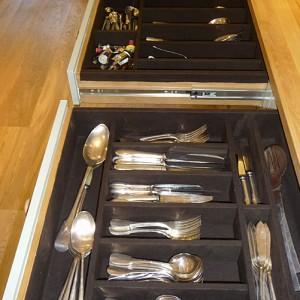 hand made silverware draws