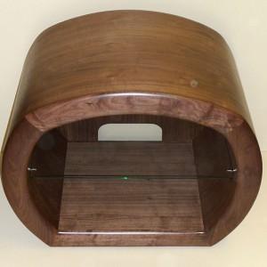 handmade interior walnut cabinet