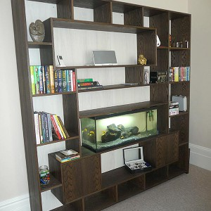 Bespoke custom made shelving unit sussex