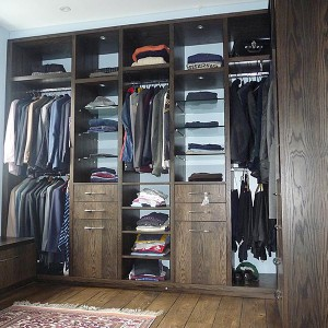 Bespoke dressing room built storage sussex