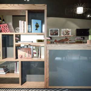Bespoke design of book shelf and storage