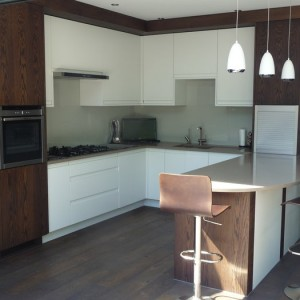 Bespoke dark wooden kitchen