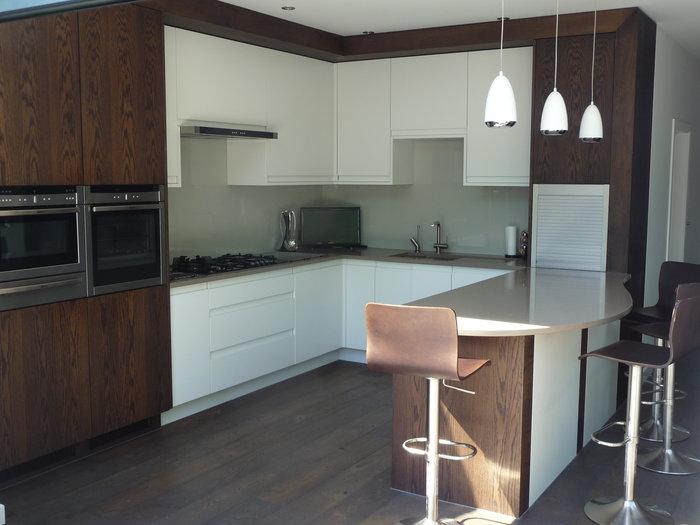 Bespoke dark wooden kitchen